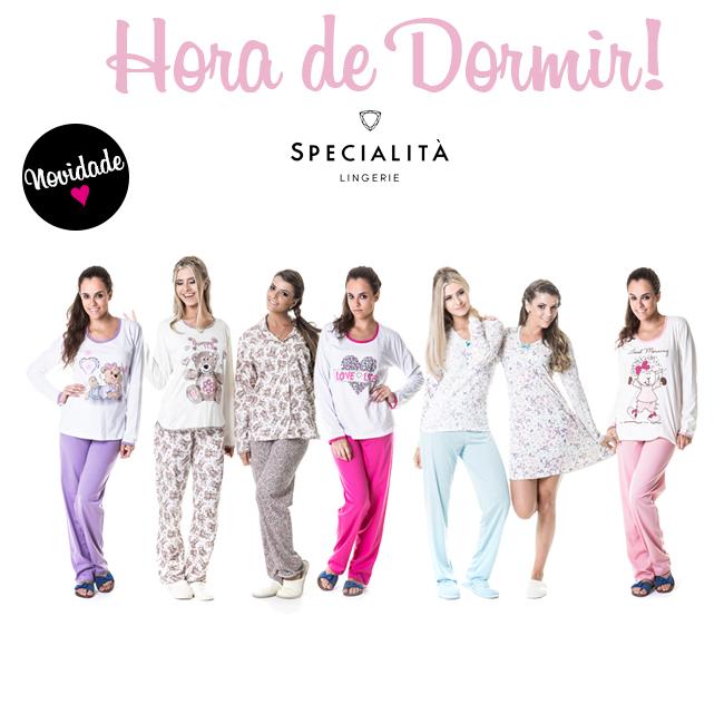 Pijamas quentinhos para o inverno - Specialita Lingerie
