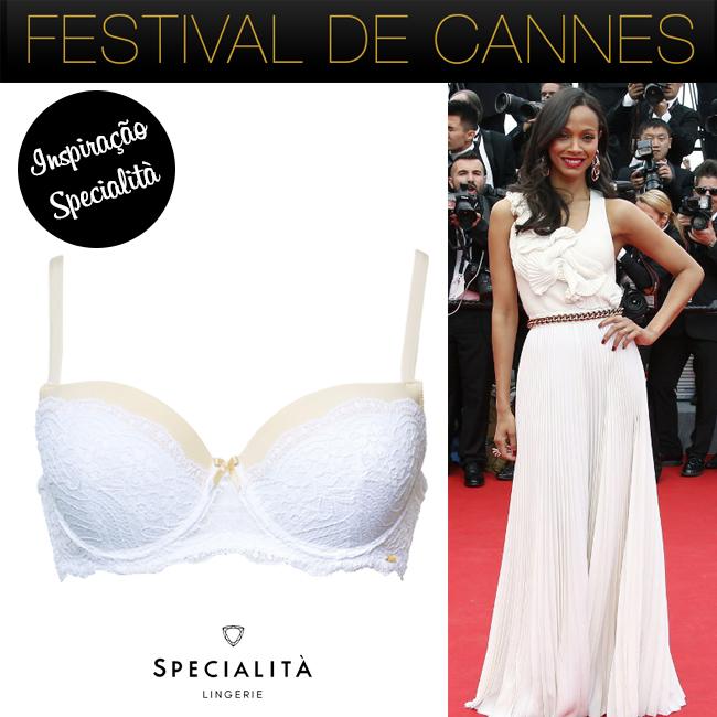 Festival de Cannes - look e lingerie - Zoe Saldana