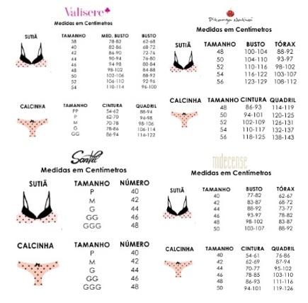dfd92927c Como comprar lingerie online - tabela de medidas