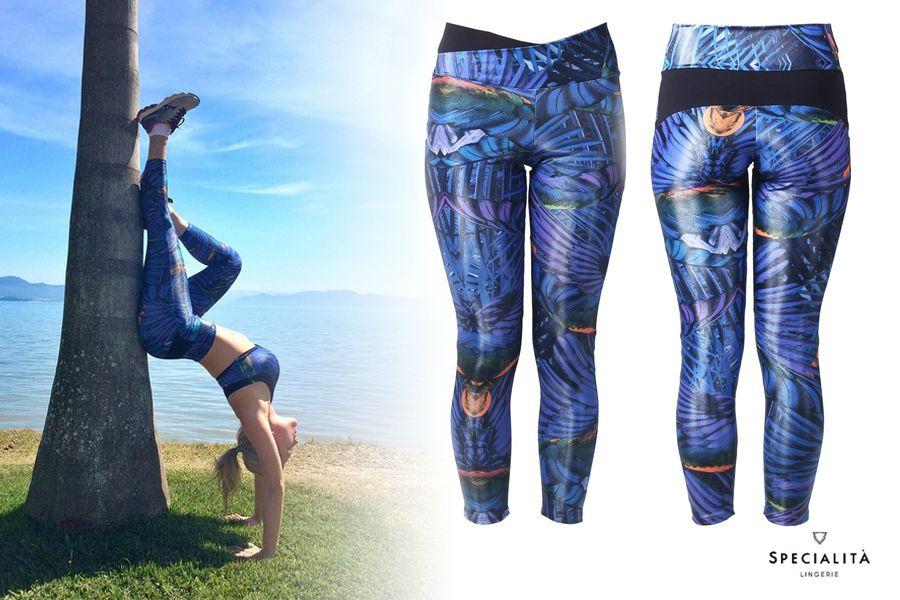 Look Fitness com legging estampada - Ana Paula Fronza