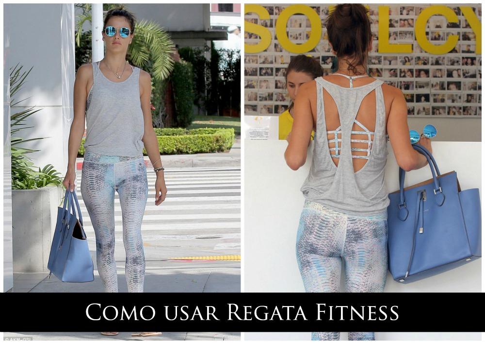 Como usar Regata Fitness - Look Fitness de Alessandra Ambrósio