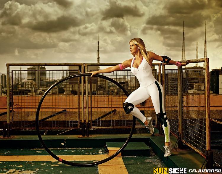 Macacão Fitness Caju Brasil - Coleção Sunshine Karina Bacchi Musa Fitness