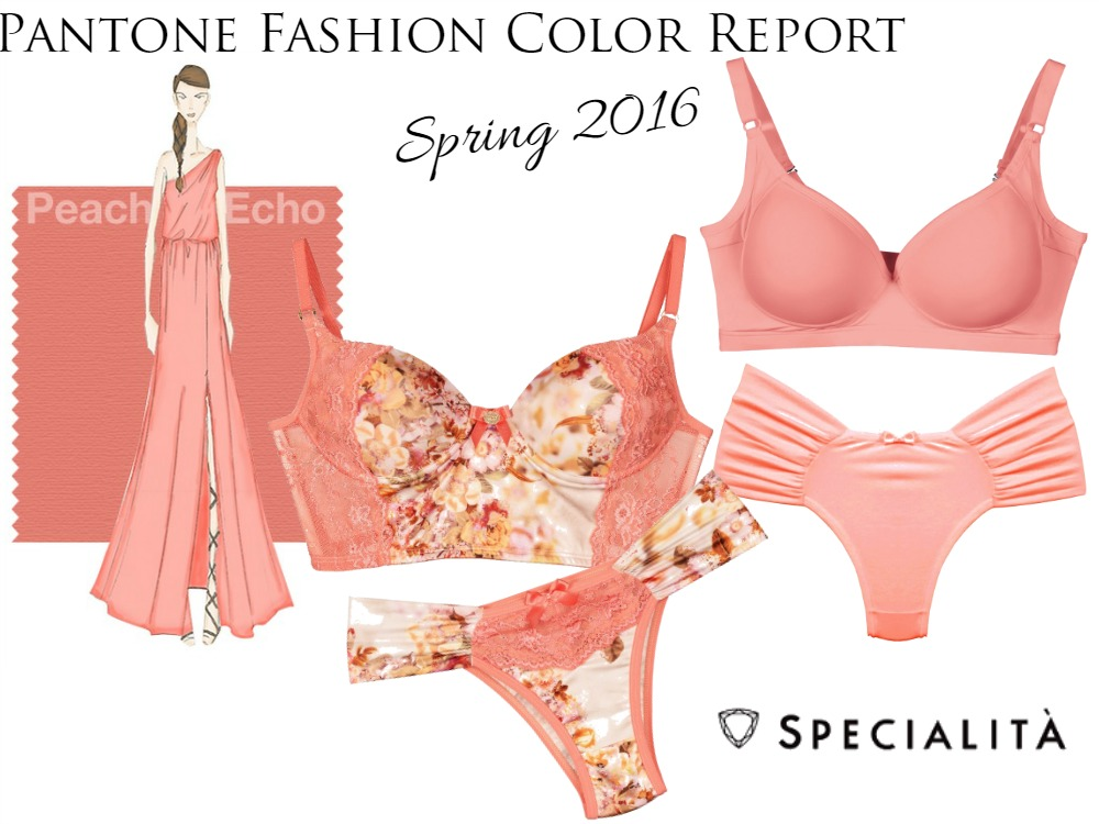Lingerie cor Peach Echo | Pantone Fashion Color Report Spring 2016