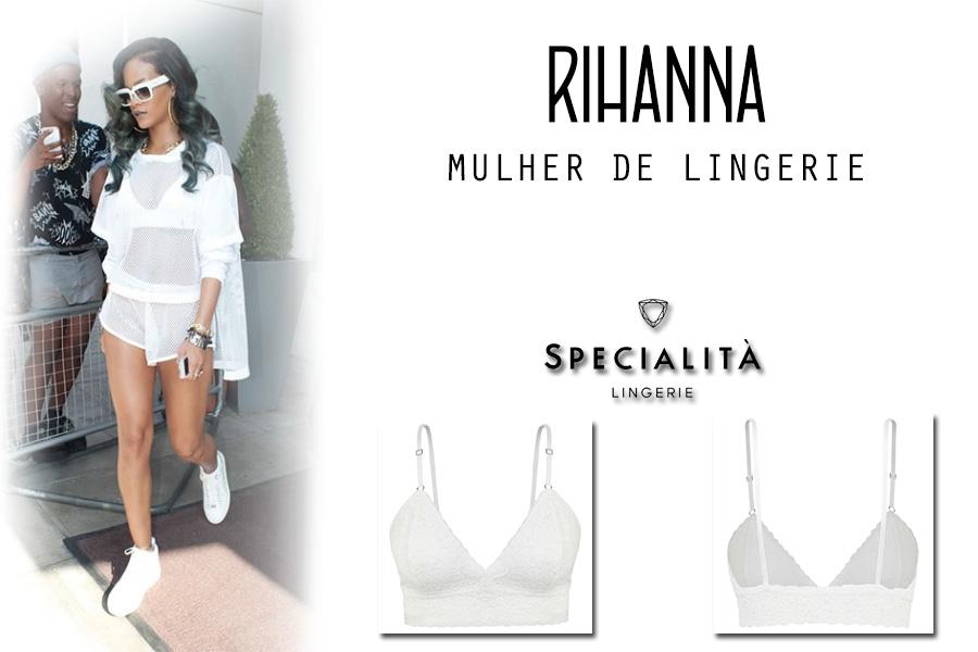 Mulher de Lingerie: Rihanna
