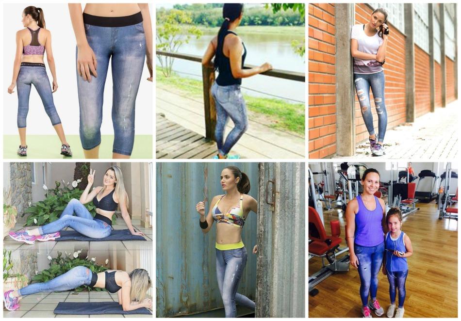 Como usar legging jeans Live!