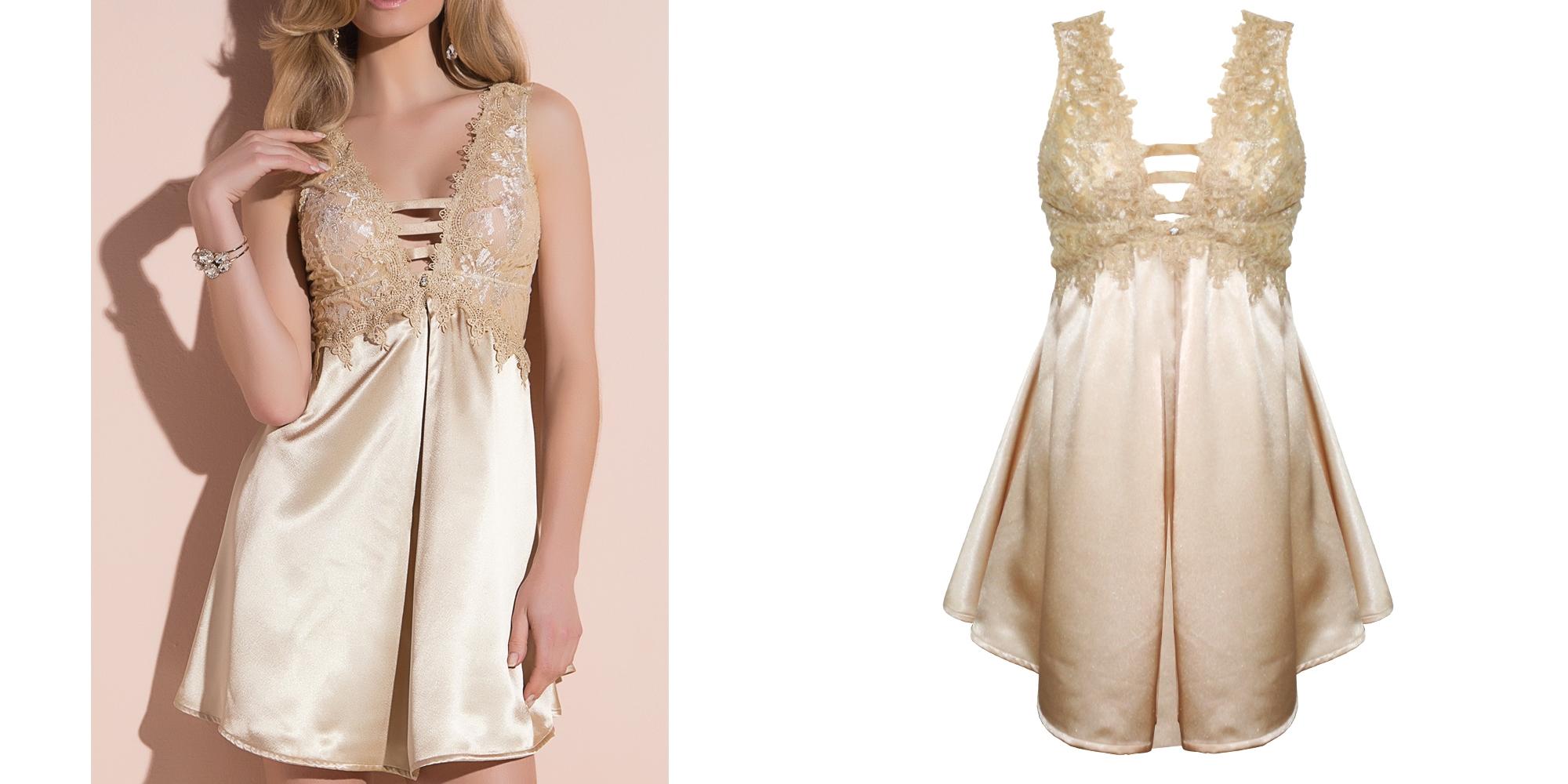 camisola vestido de luxo