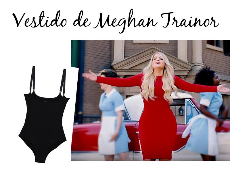 Body modelador para usar com vestidos mais justos - Look de Meghan Trainor