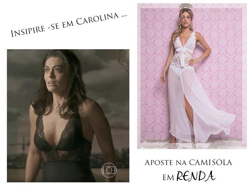 Carolina Castilo de lingerie em Totalmente Demais