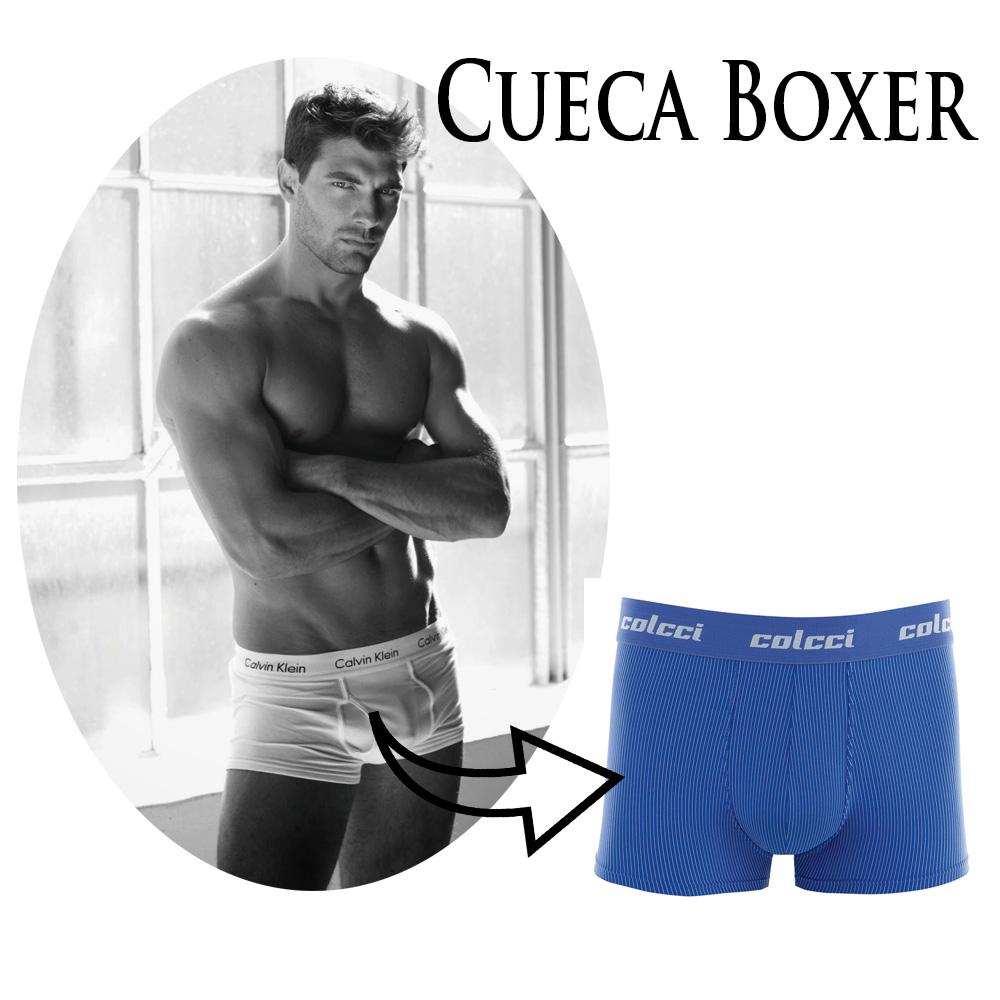Cueca modelo boxer