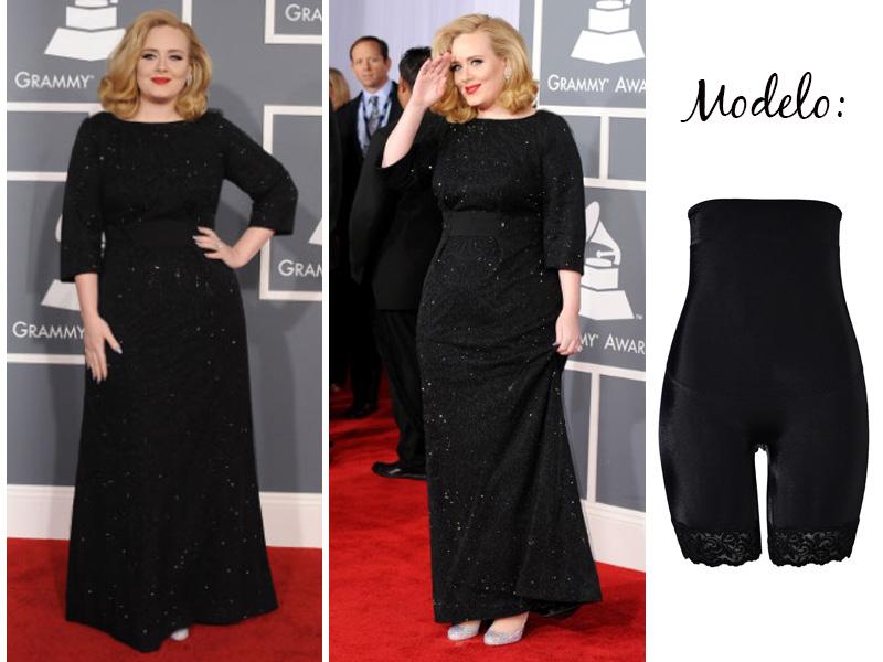 Adele com bermuda modeladora
