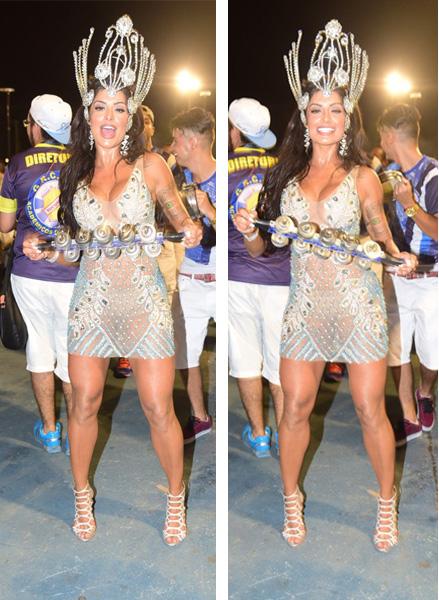Aline Riscado com vestido transparente