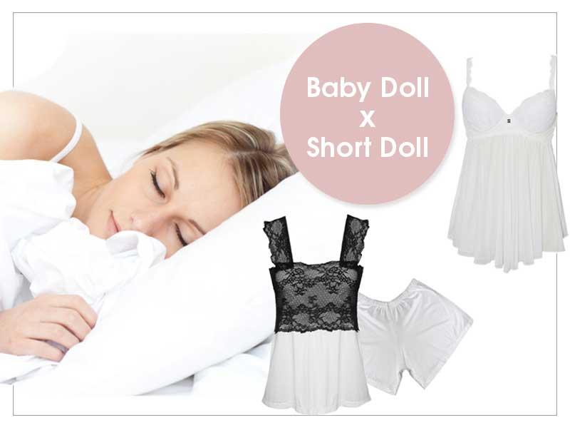 Diferença entre Baby Doll e Short Doll