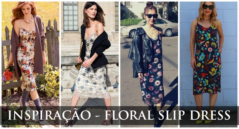 Inspiração Floral Slip Dress
