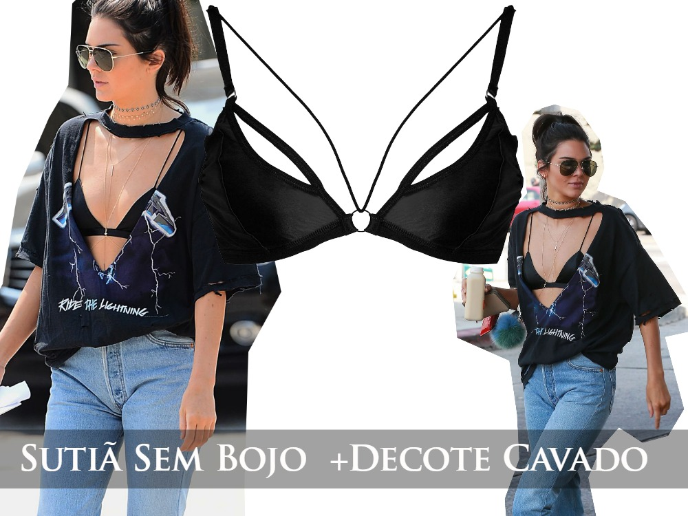 Sutiã + T-shirt by Kendall e Kylie Jenner