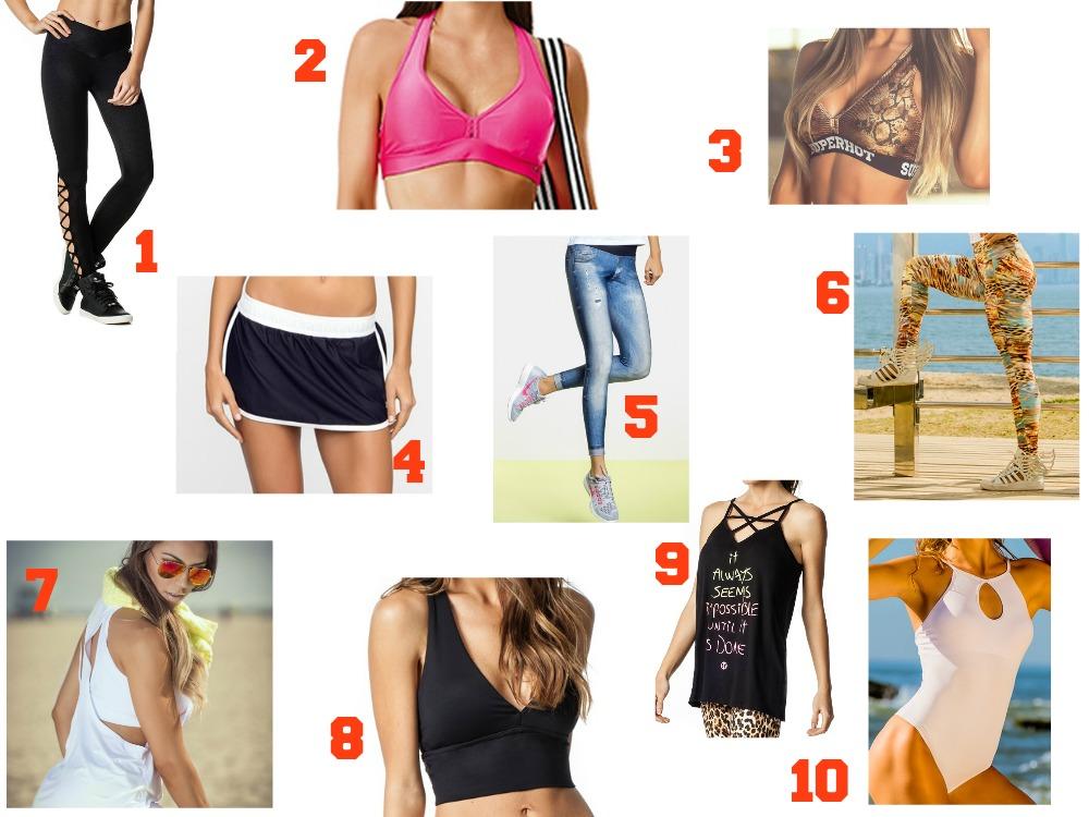 10 roupas de academia para montar o guarda-roupa fitness